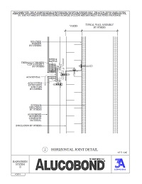 Alucobond Rainscreen II Horizontal Joint