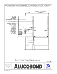 Alucobond Rainscreen II Window Head Optional