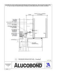 Alucobond Rainscreen II Window Head Standard