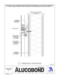 Alucobond Rainscreen System I Horizontal Detail