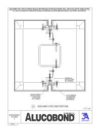 Alucobond Rainscreen System I Square Column Detial