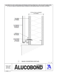 Alucobond Wet Seal System Base Condition