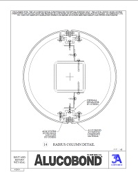 Alucobond Wet Seal System Radius Column