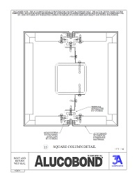 Alucobond Wet Seal System Square Column