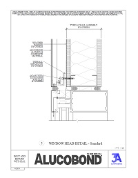 Alucobond Wet Seal System Window Head Standard