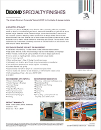 Product Sheet - DIBOND® Specialty Finishes