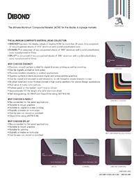 Product Sheet - DIBOND® & E-PANEL™