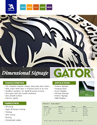 Dimensional Signage with GATORFOAM
