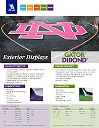 Exterior Displays with DIBOND & GATOR