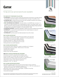 Product Sheet - GATOR® Collection