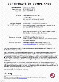 Sintra® UL Certificate of Compliance